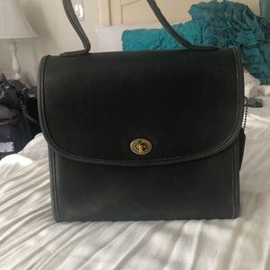 Black vintage Coach handbag